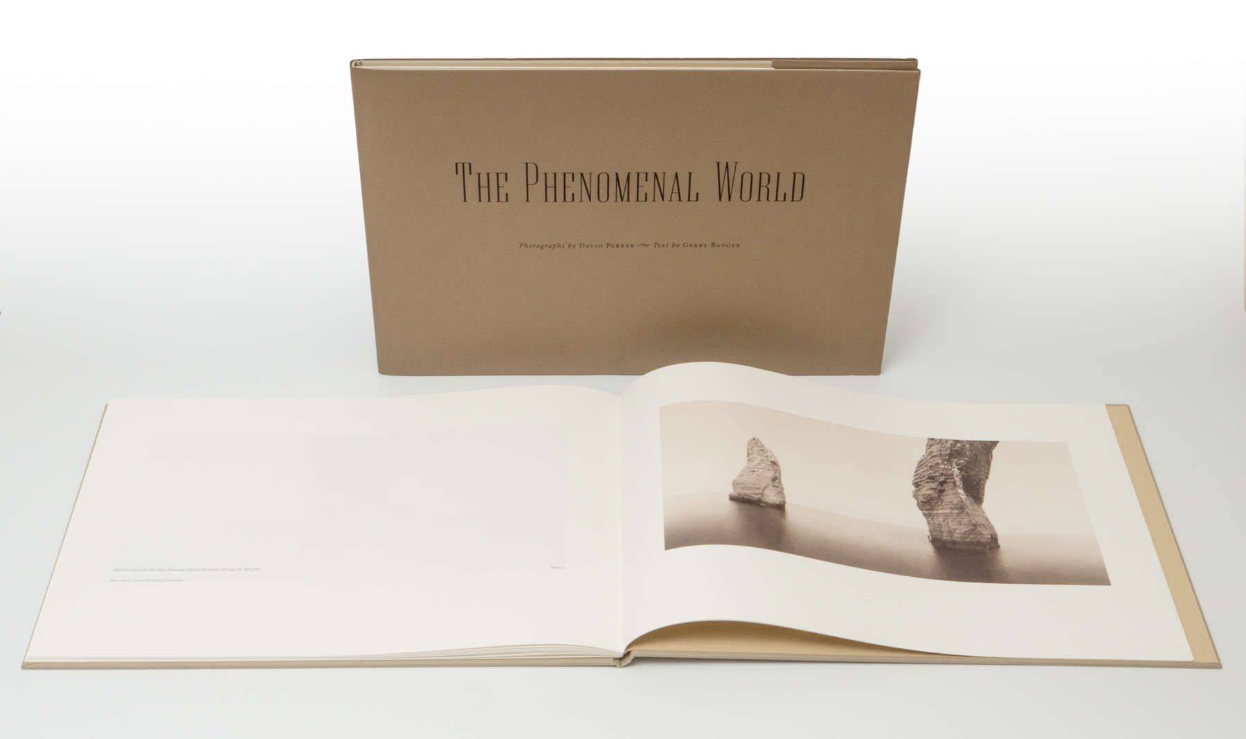 Double page spread and cover of The Phenomenal World by David Parker